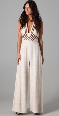 Love this: Calm Jumpsuit with Leather Trim @Lyst