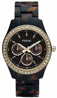 ES2795 - Authorized Fossil watch dealer - LADIES Fossil STELLA, Fossil watch, Fossil watches - watches, kate spade, michael kors, black, rolex, luxury watch *ad