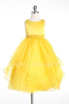 D0302 Satin Bodice Organza Skirt Dress (9 Diff. Colors) – Happy Land $44.95 + Free Shipping!