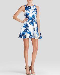 Keepsake Dress - Straight Talker Floral Fit and Flare | Bloomingdales's