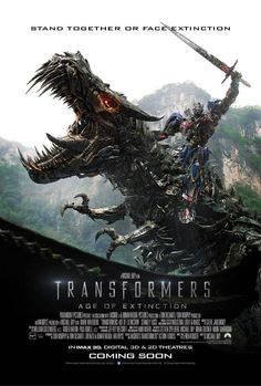 The trailer for Michael Bay's Transformers: Age Of Extinction has arrived and if you love action movies as much as we do you are in for a treat. Transformers: Age Of Extinction is out on July 10 in Transformers Film, Grimlock Transformers, Stanley Tucci, Michael Bay, Mark Wahlberg, Optimus Prime, Los Autobots, Transformers Movie, Poster