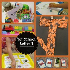 Tot School: Letter T; plenty of fun learning with tigers, trains, & turtles!!
