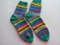 Hand Knit Women's/Teen Socks Size 9 1/2 by SpruceCottageKnits on Etsy
