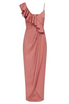Shop the Shona Joy Luxe Asymmetrical Frill Dress in Rose. Browse a huge range of colours & styles. Over 250 dresses to shop. Elegant Dresses For Women, Fabulous Dresses, Beautiful Dresses, Classy Dress, Classy Outfits, Silk Bridesmaid Dresses, Bridesmaids, Frill Dress, Pink Dress