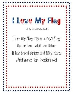 A cute poem I found about the US flag. Works great when teaching about the flag and symbols of the US. Enjoy!...