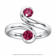 Pink Tourmaline Ring #Platinum Would like this a lot if the setting were offset.