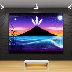 'Taranaki te Maunga' Canvas Print by Revolution Aotearoa Landscape Art, Landscape Paintings, Maori Symbols, Maori Designs, Nz Art, Maori Art, Kiwiana, Feather Art, Tribal Art