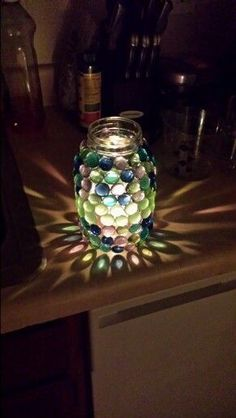 My diy mason jar candle holder :) so proud jar Crafts 17 DIY Candle Holders Ideas That Can Beautify Your Room - EnthusiastHome Mason Jar Candle Holders, Mason Jar Candles, Diy Candles, Mason Jar With Lights, Solar Mason Jars, Glitter Mason Jars, Jar Lights, Bottle Lights, Mason Jar Projects