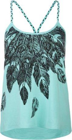 Amazon.com: FULL TILT Feather Womens Lace Back Tank: Clothing