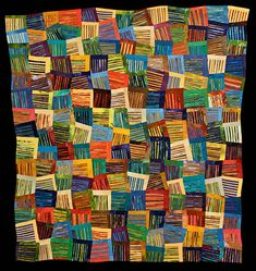 "Nancy Cordry Stripes of Different Colors        49"" x 46"", 2007"