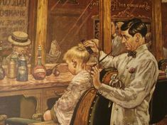 Look at those shears! Old Fashion Barber Shop, Barber Shop Pictures, Barber Logo, Hair Barber, Classic Haircut, Barber Shop Decor, Retro Hairstyles, Art Themes, Vintage Pictures
