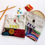 DYI recycled sandwich bag - these are made from pants pockets - So clever