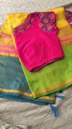 Saree Blouse Patterns, Sari Blouse Designs, Bridal Blouse Designs, Blouse Styles, Kutch Work Designs, Mirror Work Blouse, Simple Blouse Designs, Blouse Models, Churidar