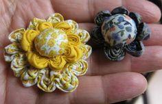 ARTEMELZA - Arte e Artesanato: flor de fuxico em ziguezague