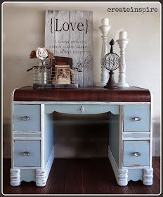 {createinspire}: Antique Waterfall Desk