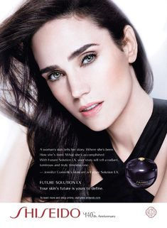 Shiseido Advertising with Jennifer Connelly