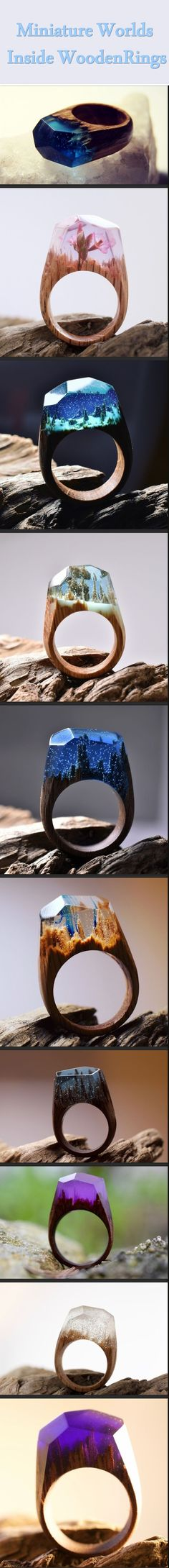 Unlike other jewelry makers, Canadian Secret Wood loves to bring more meaning to the ring designs. They craft a unique miniature world in wooden
