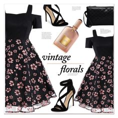 """vintage florals"" by mycherryblossom ❤ liked on Polyvore featuring Imagine by Vince Camuto, Tom Ford and vintage"