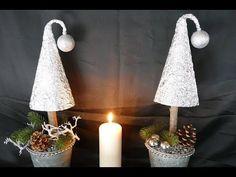 Weihnachtsdeko – Tanne basteln – christmas decoration – Wohndeko - YouTube