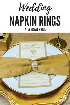 Elegant Rhinestone Napkin Rings at great prices!  Check out totallydazzled.com today!
