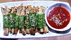 피로회복에 좋은 음식 팽이버섯 대파 말이 한정식 집 맛 그대로!! K Food, Cooking Photos, Bulgogi, Food Festival, Korean Food, Food Design, Kimchi, Ketogenic Diet, Asparagus