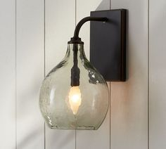 Clift Glass Sconce - Clear | Pottery Barn