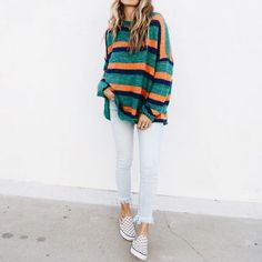 Sweater Weather || Stripped Sweater || Multi Colored || UO Fashion