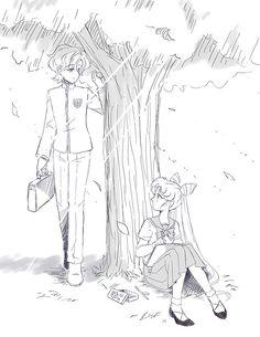 Teenage Helios and Chibi-usa