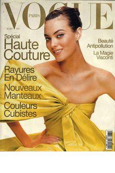 Vogue Paris March 1996 cover / Photography: Mario Testino