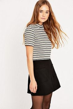 Urban Outfitters Turtle Striped Crop Top