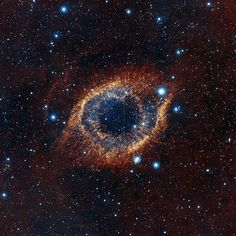 "Helix nebula thats 700 light years away in Aquarius. Also known as the ""Eye of God"""