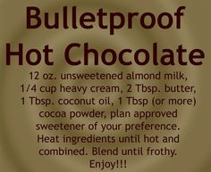 [ Bullet Proof Coffee Recipe for Low Carb and Keto diet The post Bullet Proof Coffee Recipe for Low Carb and Keto diet # appeared first on Keto Recipes. Thm Recipes, Ketogenic Recipes, Recipies, Vitamix Recipes, Recipes Dinner, Low Carb Drinks, Low Carbohydrate Diet, Keto Drink, Starbucks