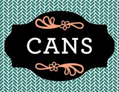 CANS Magnet Label for recycling by RichardCreative on Etsy, $4.95
