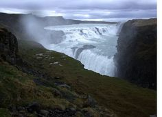 Gullfoss Waterfall from my trip to Iceland--an oddly beautiful and fascinating place.