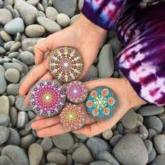 Pretty painted stones by Elspeth McLean KA