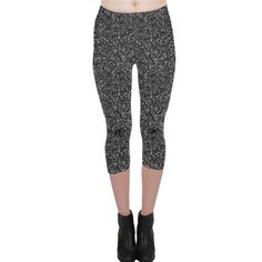 Gray texture Capri Leggings