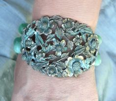 Beautiful bracelet made of reclaimed pieces... $