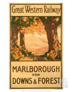 Marlborough for Downs & Forest, GWR, c.1927 Art Print at Art.com