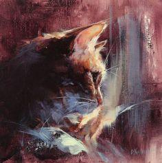 de kleuren zijn erg mooi, ook lijkt het erg realistisch (de kat zijn hoofd) maar je kunt zien dat de rest echt getekend is.