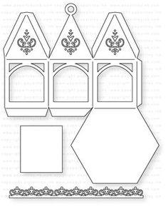 Papertrey Ink – Petite Ornament: Hexagon Die: Papertreyink – Welcome to Ramadan 2019 Ramadan Crafts, Ramadan Decorations, Diy And Crafts, Paper Crafts, Paper Houses, Kirigami, Paper Lanterns, Scrapbook Supplies, Craft Supplies