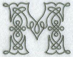 Máquina del bordado Designs al bordado Biblioteca! - Celtic Knotwork del alfabeto