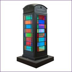 stained glass phone box