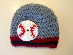 Arizona Diamondbacks Baby Boy Crochet Hat Baseball Team Colors Beanie photo prop beanie custom team colors via Etsy