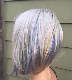 Ash With Pastel Highlights. #hair #hairstyles #haircolor #fashion #style #women #pastel #ash #pastel