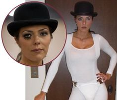Adrianne Curry- Entertainment puppets pose as Droogie Alex: A CLOCKWORK ORANGE film analysis and video- http://illuminatiwatcher.com/illuminati-alchemy-occult-symbolism-stanley-kubricks-clockwork-orange/