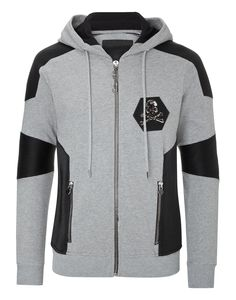 "Philipp Plein Hoodie Sweatjacket ""native"" In Grey Melange Indian Men Fashion, Muslim Fashion, Mens Fashion, Jacket 2017, Well Dressed Men, Urban Fashion, Work Wear, Sportswear, Shirt Designs"