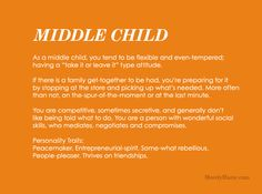 Discover your birth order Middle Child Personality Facts For Kids, Quotes For Kids, Fun Facts, Middle Child Quotes, Birth Order Personality, National Middle Child Day, Libra, Aquarius, Middle Child Syndrome