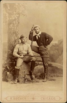 1880 [cabinet card portrait of Theodore and Elliott Roosevelt in hunting outfits] H. Rocher via the Harvard College Library Theodore Roosevelt Collection Antique Photos, Vintage Pictures, Vintage Photographs, Old Pictures, Old Photos, Victorian Pictures, Us History, American History, History Photos