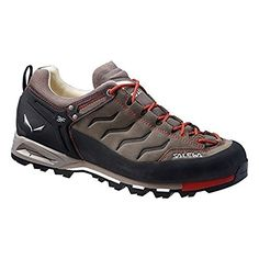 Salewa Mens Mountain Trainer Leather Shoes Bungee Cord  Firebrick 95  Etip Lite Gripper Glove Bundle >>> Read more reviews of the product by visiting the link on the image.(This is an Amazon affiliate link and I receive a commission for the sales)