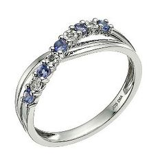 ★★★★★ | 9ct White Gold Diamond & Tanzanite Crossover Ring  | Gift Ideas | Click The Picture if you want to see more+ | product reviews available